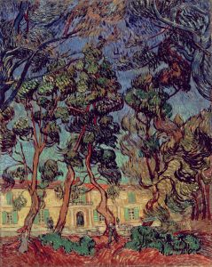 Trees in the Garden of Saint-Paul Hospital - October 7 1889 St Remy Autumn