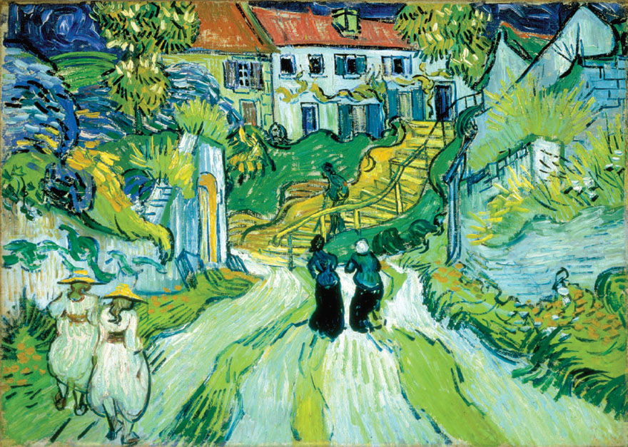 May 30, 1890 – Vincent paints Stairs with Figures